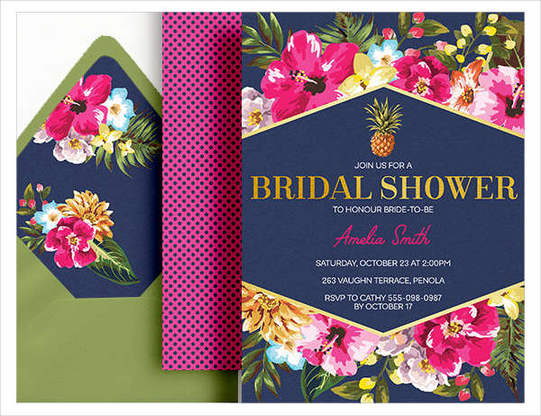 bridal shower pool party invitation