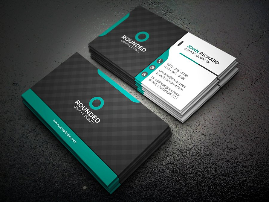business card logo psd