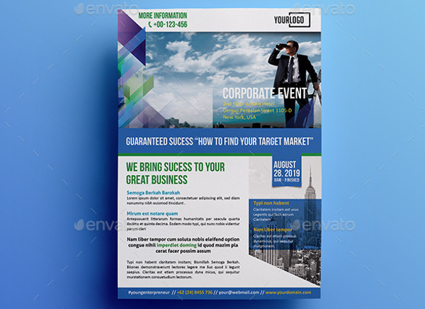 business corporate event flyer