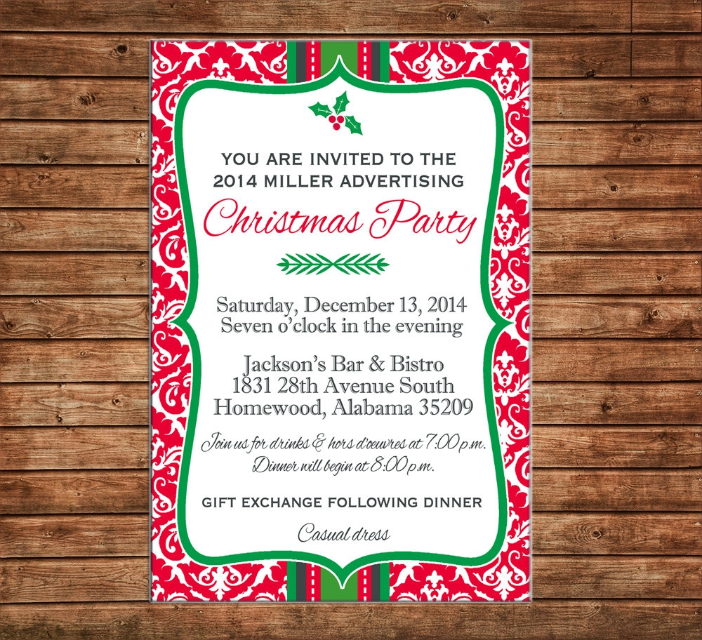 business holiday party invitation