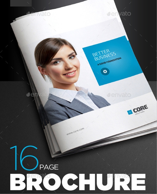 business letter corporate brochure