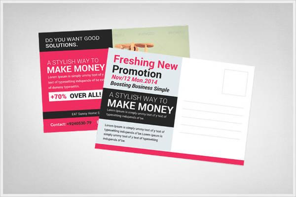 business marketing postcard template