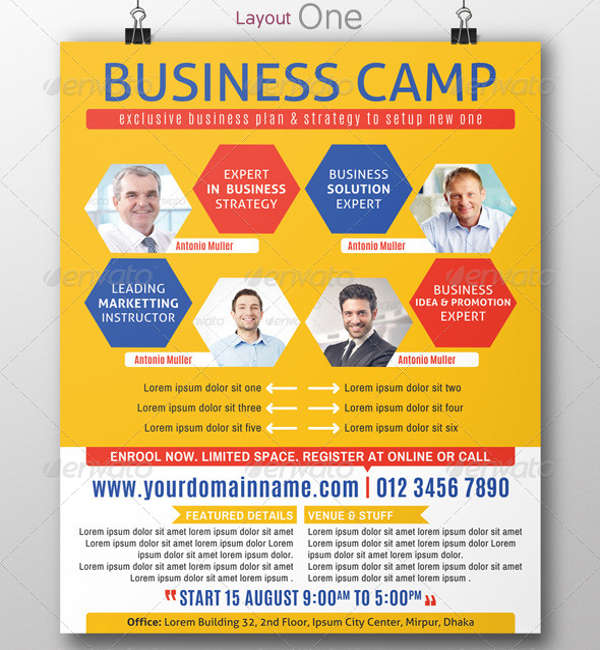 business training flyer psd