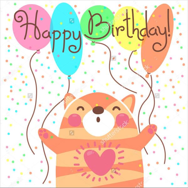 cartoon birthday card vector