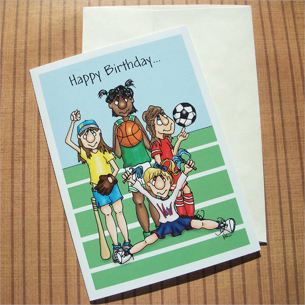 cartoon sports greeting card1