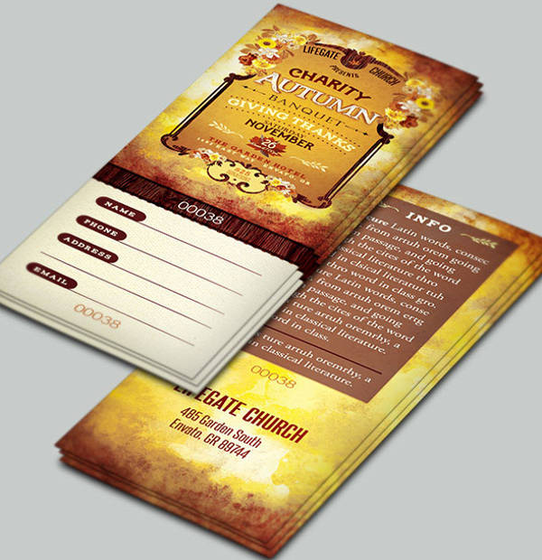 charity event ticket template