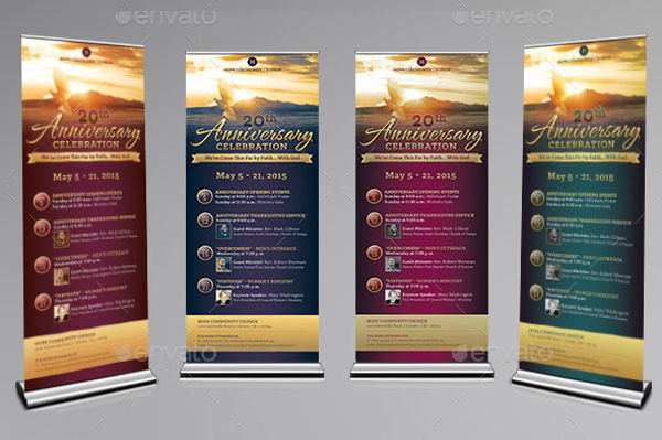 church anniversary banner design