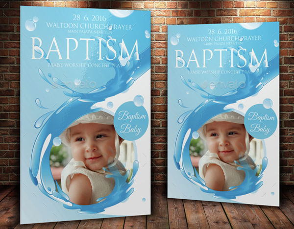 church baptism invitation flyer