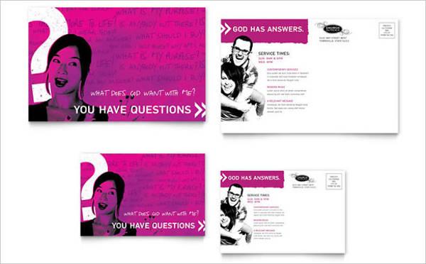 church outreach ministries postcard template