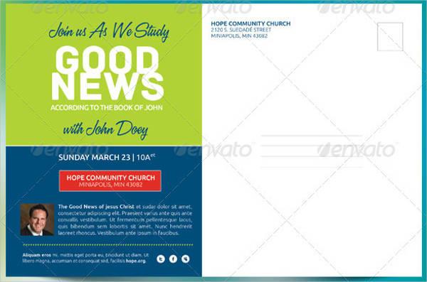 church postcard in psd3