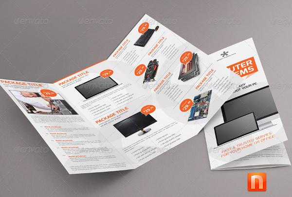 clean computer service brochure