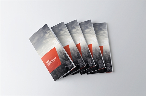 clean corporate trifold brochure
