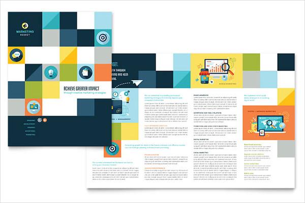 clean digital advertising brochure