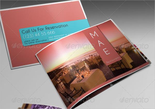 clean restaurant brochure