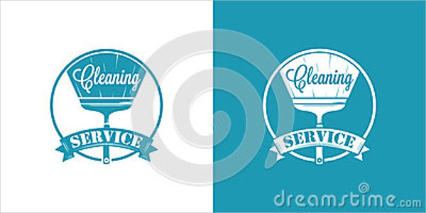 cleaning company vector logo