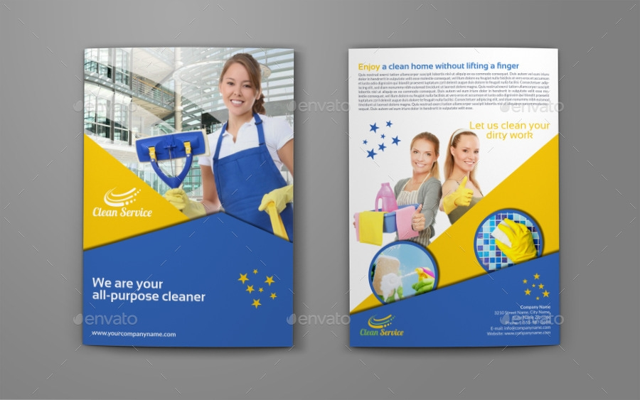 33 service brochure designs for Commercial cleaning brochure templates