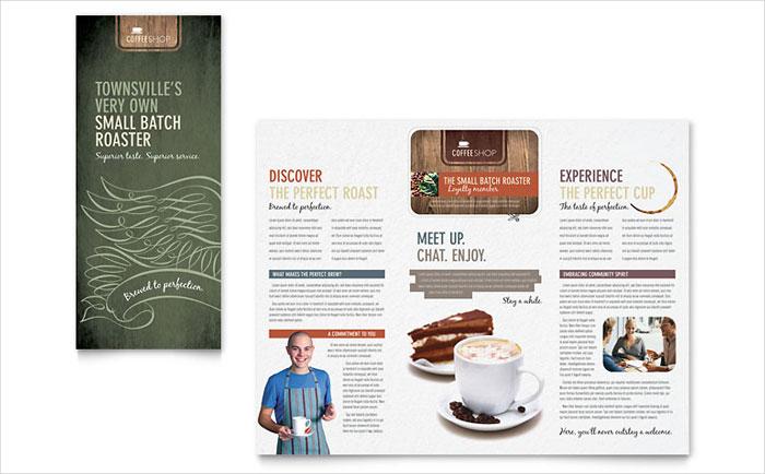 coffee shop brochure