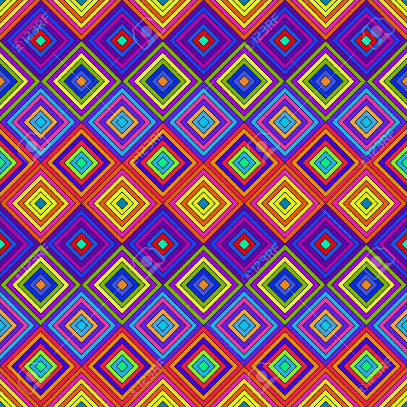 colorful trippy pattern