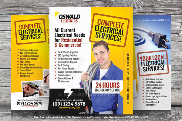 commercial electrician flyer