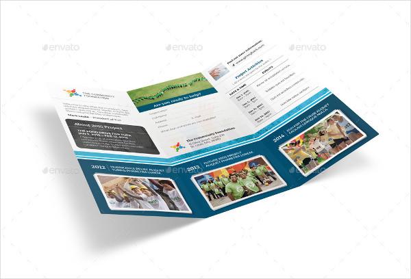 community service tri fold brochure