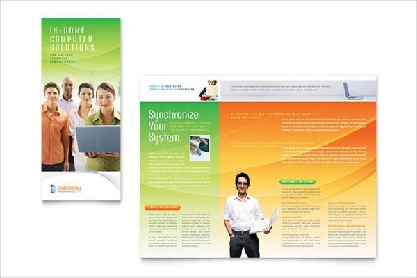 computer service tri fold brochure