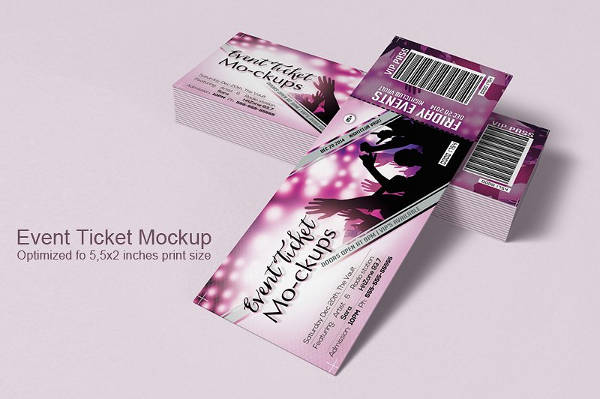 concert event ticket template1