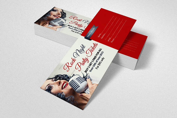 concert party ticket template