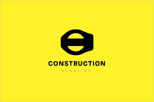 construction company logo vector