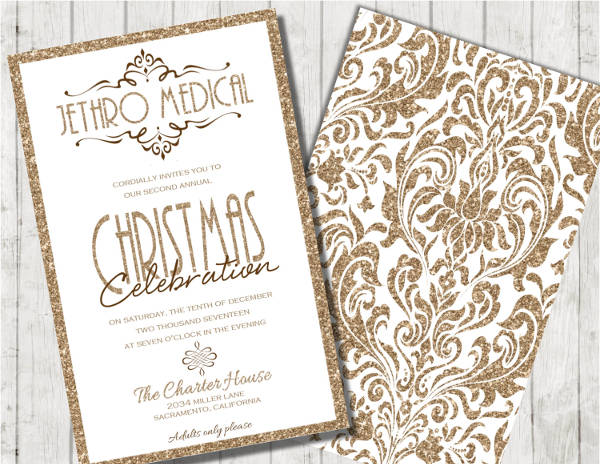 corporate christmas party invitation
