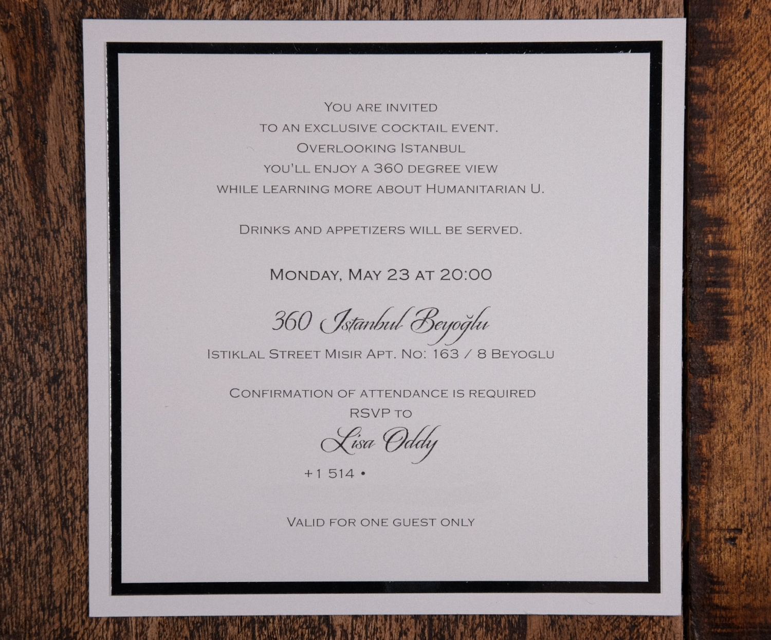 corporate event invitation wording