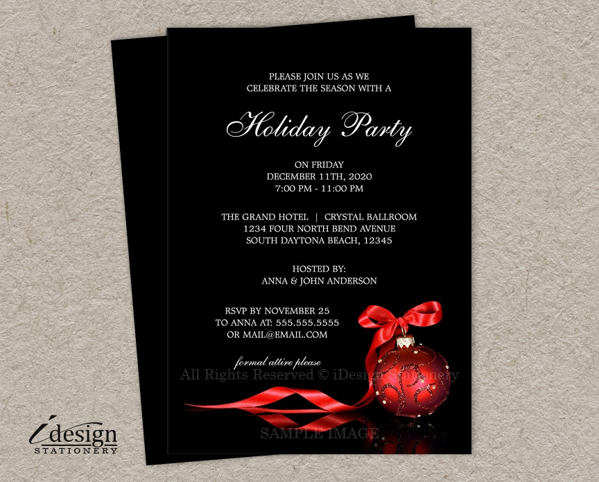 corporate holiday business party invitation