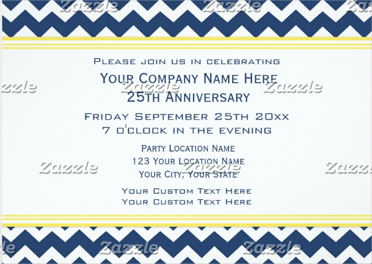 corporate office anniversary party invitation