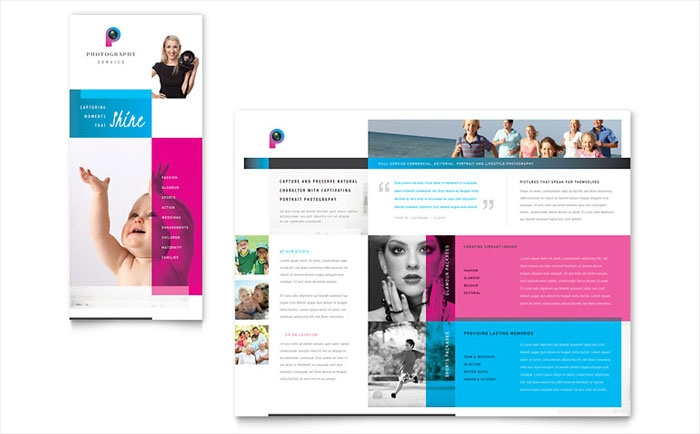 corporate photography business brochure