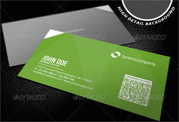 corporate qr code business card