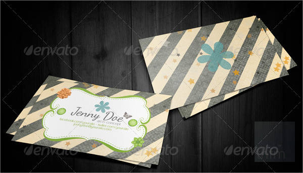 craft business and visit card