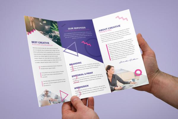 creative agency tri fold brochure