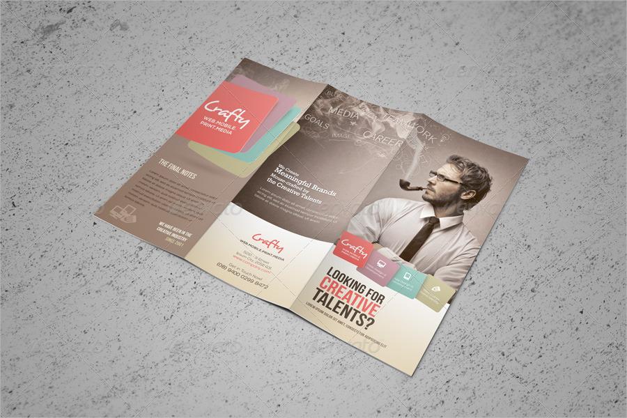 creative agency tri fold brochure1