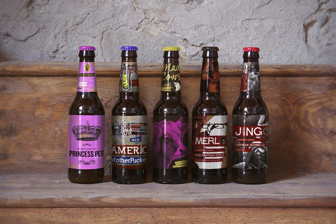 creative beer bottle label