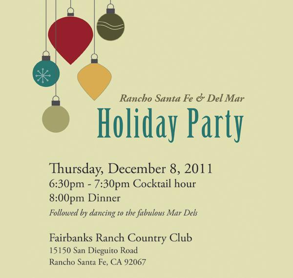custom holiday party invitation