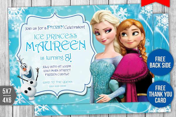 custom princess party invitation