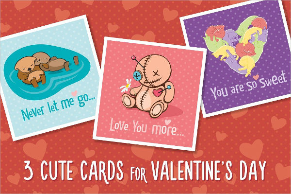 cute valentines day greeting card