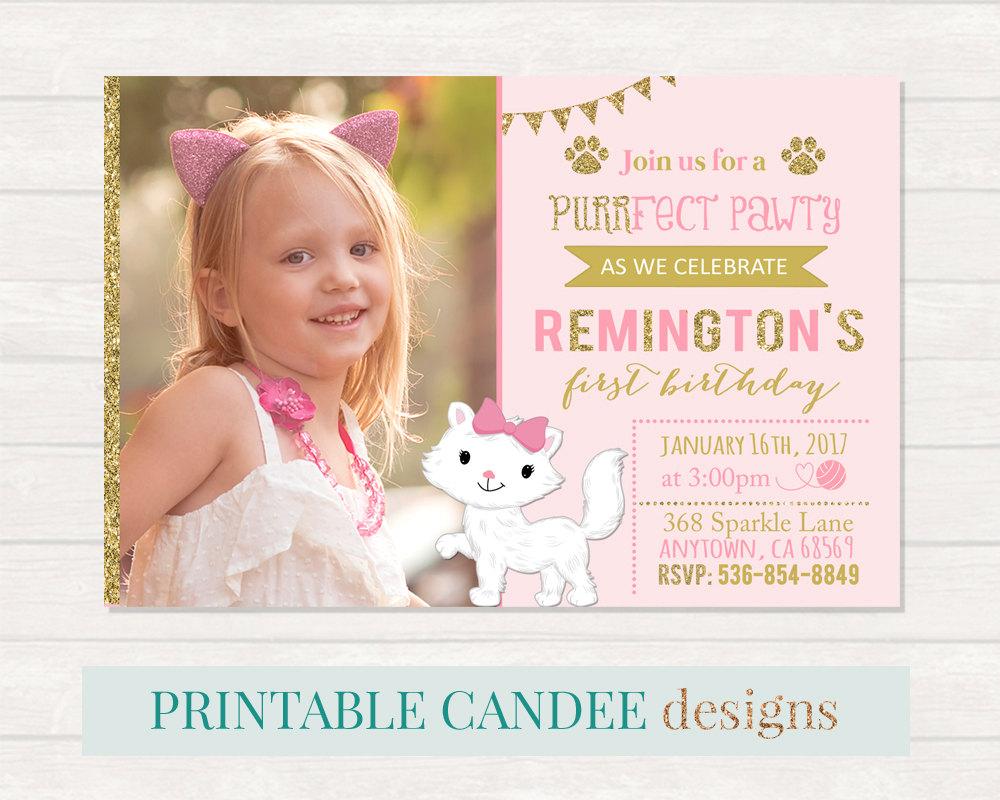 diy kitty party invitation