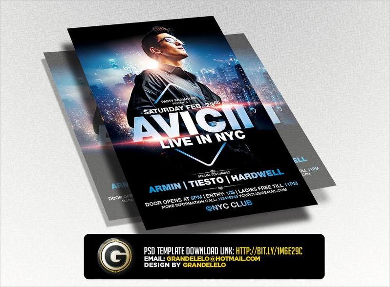 dj party advertising flyer