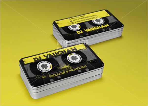dj producer promoter business cards template