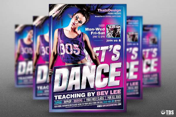 dance class fitness flyer