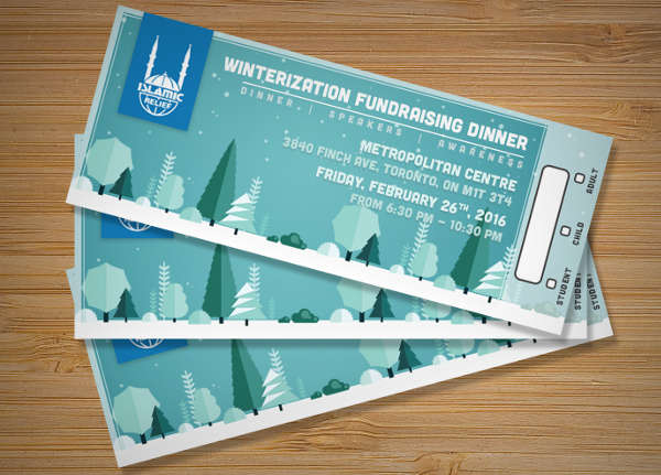 dinner fundraiser ticket template