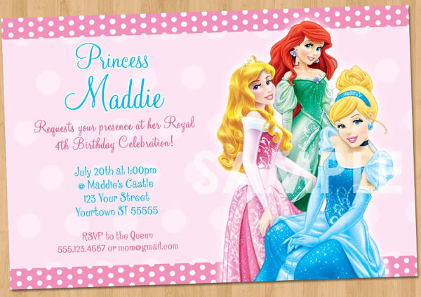 disney princess party invitation1