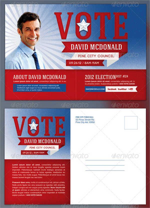 door hanger political postcard template
