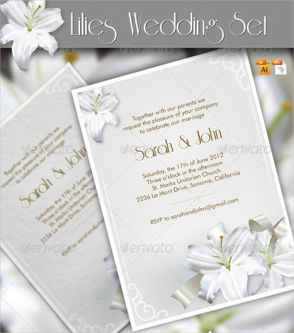 eps card template for wedding place