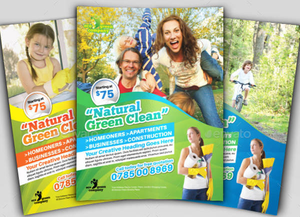 eco cleaning business flyer